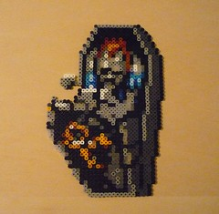 sggzombie (Monochrome_GS) Tags: zombie coffin hama perler superghoulsnghosts beadsprite