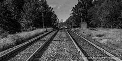 IMG_3401 (VNR Photography) Tags: blackandwhite ontario canada train canon afternoon smoke traintracks tracks canoneos5dmarkii georgetownon andrevonnickisch