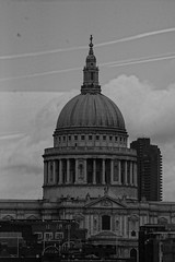 St. Paul's Cathedral (f1jherbert) Tags: greatbritain england blackandwhite bw white black london st cathedral unitedkingdom britain sony united great christopher kingdom pauls wren christopherwren alpha stpaulscathedral 65 londonengland londonunitedkingdom a65 sonyalpha londongreatbritain sonya65 sonyalpha65 alpha65