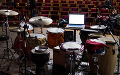 drum and percussion setup