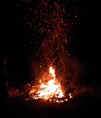 fire bonfire sparks