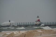St. Joseph, Michigan North Pier Lighthouse (1907) (SpeedyJR) Tags: lighthouse lighthouses michigan lakemichigan greatlakes stjosephmichigan stjosephmi greatlakeslighthouses speedyjr