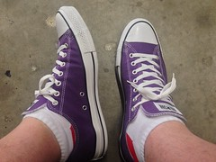 Today felt like a Purple Chucks kind of day. (griffmiester) Tags: shoes purple fb sneakers converse chucks adn locut twitter uploaded:by=flickrmobile flickriosapp:filter=nofilter