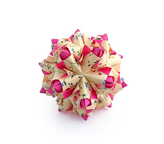 Bolero (Nata_Dubna) Tags: paper origami modular bolero modularorigami kusudama кусудама nataliaromanenko натальяроманенко