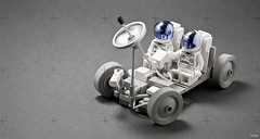 Apollo Lunar Rover _03 (_Tiler) Tags: moon lego space rover astronauts vehicle exploration apollo lunar moonrover lunarrover lrv