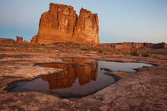 Reflections Before Sunrise (Ralph Earlandson) Tags: arches courthousetowers utah landscape sunrise desert coloradoplateau droh dailyrayofhope2014