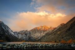 Sierra Sunrise (Steve Corey) Tags: lake mountains fall water club sunrise meetup explore aspens easternsierra convictlake sierrasunrise slocc
