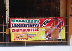 Lesbianas (knightbefore_99) Tags: west beer bar mexico coast pub pacific cerveza mexican tropical zihuatanejo pivo guerrero lesbianas micheladas chamochelas