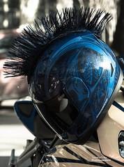 Motorcycle Helmets Mohawk Black Helmet Mohawk Motorcycle