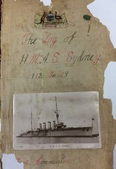 A ship's log by an unknown sailor from HMAS Sydney