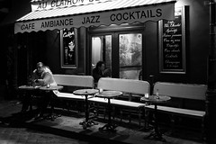 Lonely Drinker (717Images) Tags: man paris france bar french restaurant cafe solitude alone citylife montmartre bistro leisure nightlife relaxation