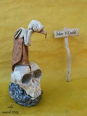 Man versus wild (-sebl-) Tags: bird paper square fur skull origami much vulture unryu twoinone nks sebl