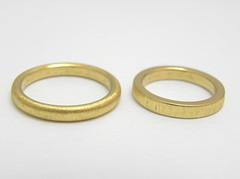 純金の結婚指輪 24K Wedding band (jewelrycraft.kokura) Tags: 指輪 結婚指輪 マリッジリング ゆびわ 純金