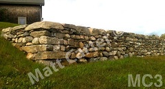 WM Matt Carter 3, Retaining Wall, dry laid stone construction, copyright 2014