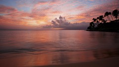 Hawaiian Time (ernogy) Tags: ocean sunset sea seascape reflection beach nature colors silhouette clouds sunrise palms landscape outdoors hawaii bay waves pacific coconut maui molokai napili hawaiiantime ernogy