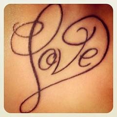 Love Heart Letter Tattoo Design 186 (tattoos_addict) Tags: love tattoo design heart 186 letter skulltattoos hearttattoos