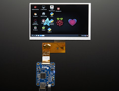 """7.0"""" 40-pin TFT Display - 800x480 without Touchscreen (adafruit) Tags: graphic displays tft screens lcds 2353 adafruit"""
