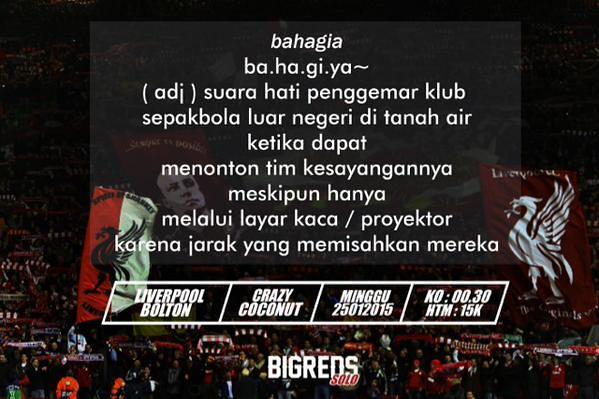 SOUL O' REDS #Bigreds @BIGREDS_SOLO: #NOBAR FA CUP @BIGREDS_IOLSC Reg.Solo | LFC vs Bolton |Minggu 25/1/15 |K.O 00.30 WIB| @CraCoSolo | HTM 10K | #ramekno s6Dd5yL4YQJ