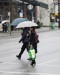 Crossing Granville (w.d.worden) Tags: umbrellas southgranvillestreet vancouverrain
