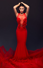 Courage by Marija Grahovac (Micko1986) Tags: red woman sexy girl beauty fashion female canon studio dress 85mm attractive belgrade courage 6d strobes