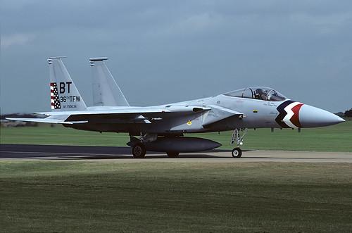 79-0036/BT F-15C 36th TFW, Bitburg AFB, RAF Alconbury 27-7-86