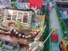 MOAH Winter Show 2014-2015 (109) (Last pass) (origamiguy1971) Tags: layout town lego mosaic spiderman trains superman batman palo alto ghostbusters moc walle moah baylug esseltine origamiguy origamiguy1971