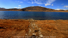 Meet me down by the lake !! (C@MARADERIE) Tags: autumn pakistan lake color horizontal colorful plateau nopeople northernareas autumntrees colorimage deosai deosainationalpark skardu autumnalscene sheosar landofgiants sheosarlake deosaiplains skarduvalley lakeofpakistan lakesofpakistan gilgitbaltistan
