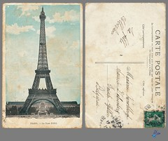 PARIS - La Tour Eiffel (bDom) Tags: paris 1900 oldpostcard cartepostale bdom