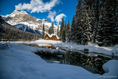 Winter in Emerald Lake (JD~PHOTOGRAPHY) Tags: winter snow canada mountains reflection canon rockies landscapes lodge rockymountains emeraldlake canadianrockies winterlandscapes yohonationalpark canon6d