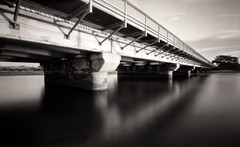 Del Mar Bridge (_johnnelson_) Tags: bridge reflections sandiego pinhole illford delmar zeroimage panf zero69 zeroimage69