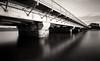 Del Mar Bridge (_johnnelson_) Tags: bridge reflections sandiego pinhole illford delmar zeroimage panf zero69 zeroimage69