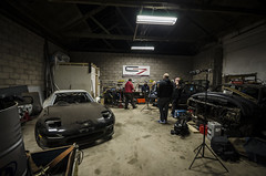 Ross' RX7 (Luke Mochan) Tags: camera car wall scotland nikon dundee garage 7 sigma workshop build 1020mm mazda rx7 grids chasing rota rotas d7000