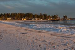 Byske beach (Byskan) Tags: winter sea river coast vinter december sweden baltic resort sverige hav kust havsbad byske byskelven bottenhavet byskanse byskan