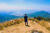 Sam at the peak of Lang Biang 2167m (iSam's) Tags: sun sunlight mountain landscape photo high view awesome peak da sunburn noon lang lat 2015 langbiang lạt biang đà