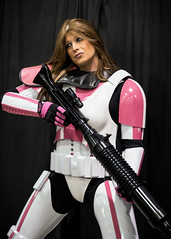 Victoria's Trooper (sklender) Tags: pink woman white starwars gun stormtrooper femalestormtrooper
