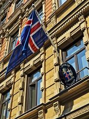 Embassy of Iceland (ri Sa) Tags: building finland iceland helsinki coatofarms flag embassy pohjoisesplanadi