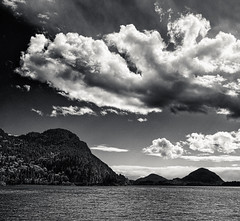 Porteau Cove, Howe Sound (martincarlisle) Tags: blackandwhite canada monochrome clouds wow britishcolumbia parks howesound nwn highway99 seatoskyhighway porteaucove porteau provincialparks photoninja porteaucoveprovincialpark niksoftware pentaxians tamronlenses pentaxart pentaxk5 silverefexii