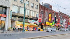 Shops (Honey Agarwal) Tags: china street new people food toronto canada colour kitchen fruits vegetables mobile price shopping asian japanese graffiti downtown chinatown crossing dragon display market photos outdoor crowd chinese restaurants books east vietnam sidewalk electronics thai shops kensington language activity spadina dundas streetcar stores avenue neighbour decor signal seller neighbourhood shoppers stuffs dryfruits clicks prominent quiality orienntal