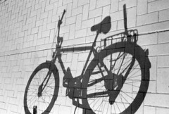 Schattenfahrrad (Turikan) Tags: olympus mju fuji acros 100 rodinal stand dev bike shadows schatten fahrrad