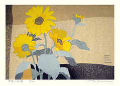 Coneflower (Japanese Flower and Bird Art) Tags: flower art japan modern print japanese coneflower rudbeckia asteraceae masahiko woodblock honjo readercollection