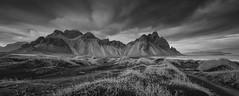 Another Mountain To Climb (Jarrad.) Tags: blackandwhite bw mountain landscape mono blackwhite iceland nikon pano vestrahorn stokksnes d800e jaymarksimages