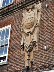 Bush House 1937 (the justified sinner) Tags: leica old macro sign stone carved carving surrey panasonic 28 45mm farnham 1937 bushhouse elmarit gx7 justifiedsinner