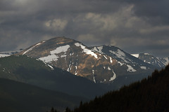Mountain range under cloudy sky (Taras L) Tags: travel blue sunset sky panorama sun white snow ski mountains alps tourism ice nature beautiful sunrise landscape frozen spring high europe view outdoor path top pass trails peak panoramic alpine capped spruce carpathians foir czornohora