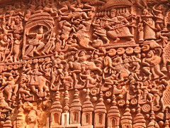 Terracotta relief in Bolpur temple (kaushb) Tags: temple terracotta bengal santiniketan