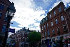 Reflection on Moulton Street (Mattkazz89) Tags: blue sky reflection portland maine oldport moulton