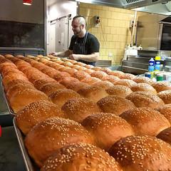Fresh burger buns at Brother Burger in South Yarra