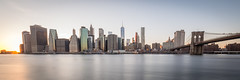 Manhattan's Skyline (Malick) Tags: city newyorkcity longexposure travel bridge winter usa newyork skyline brooklyn america skyscraper lens photography nikon downtown unitedstates angle manhattan worldtradecenter wide sigma dslr 1020mm uwa d5200