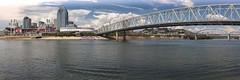 Cincinnati and the mighty Ohio River. (src-photography) Tags: bridge ohio brown skyline river paul football downtown baseball stadium cincinnati great bridges arena american bengals reds ballpark redlegs