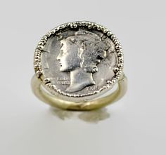 These mercury dime c (alaridesign) Tags: these mercury dime coin rings look stunning hand if you person who just plain loves silver this could become your favorite ring wear everyday o etsyfinds alaridesign silverrings uniquerings funrings