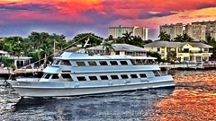 Sunset (nadiyahvidsten) Tags: sunset boats fortlauderdale pinkclouds sunglow intracoastalwaterways hdrfilter